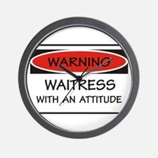 Attitude Waitress Wall Clock