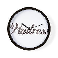 Vintage Waitress Wall Clock