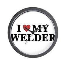 I Love My Welder Wall Clock