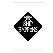 WARNING: SHIP HAPPENS Postcards (Package of 8)
