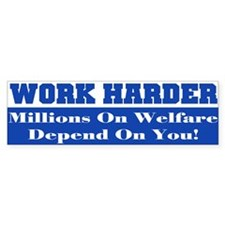 Welfare Bumper Sticker