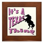 Country Girl Framed Tile