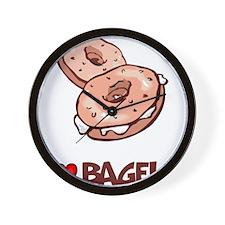 I Love Bagels Wall Clock