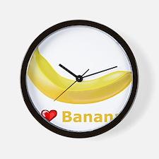 I Love Banana Wall Clock
