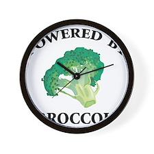 Powered By Broccoli Wall Clock
