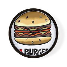 I Love Burgers Wall Clock