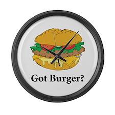 Got Burger Large Wall Clock