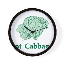 Got Cabbage Wall Clock