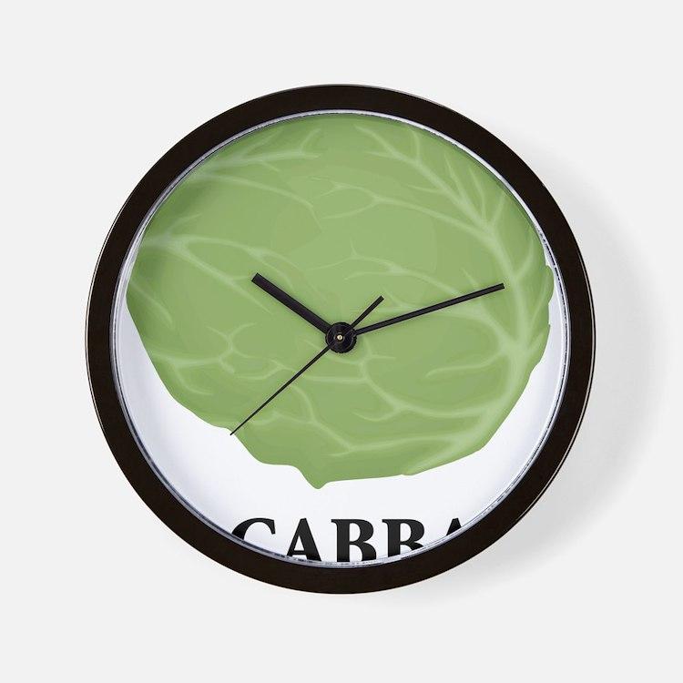 I Love Cabbage Wall Clock