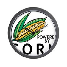 Powered By Corn Wall Clock