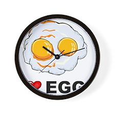I Love Eggs Wall Clock