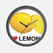 I Love Lemons Wall Clock