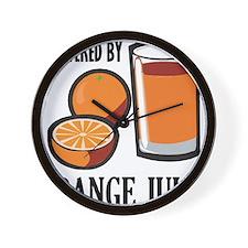 Powered By Orange Juice Wall Clock
