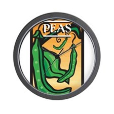 Peas Wall Clock