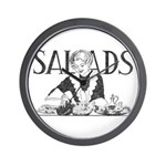 Retro Salad Wall Clock