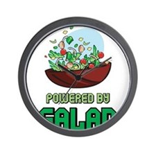 Powered By Salad Wall Clock