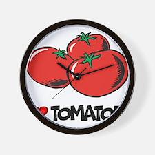 I Love Tomatoes Wall Clock