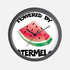 Powered By Watermelon Wall Clock