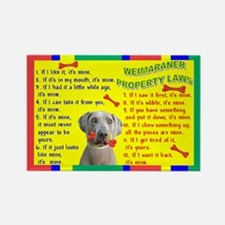 3-Property Laws -Weimaraner Magnets