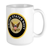 Chief petty officer Large Mugs (15 oz)
