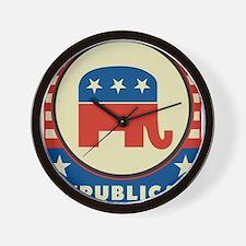 Retro Republican Wall Clock