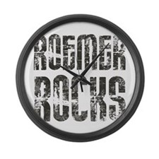 Buddy Roemer Rocks Large Wall Clock