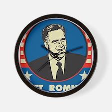 Retro Mitt Romney Wall Clock