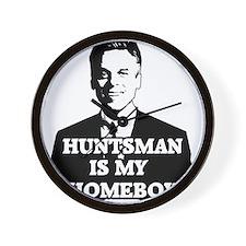 Jon Huntsman Is My Homeboy Wall Clock