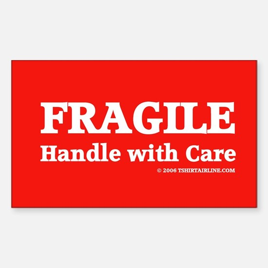 FRAGILE tag Rectangle Decal