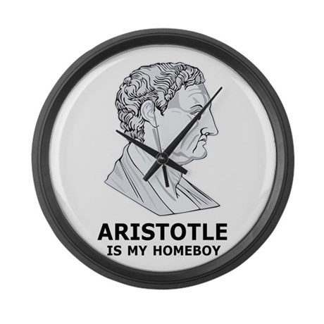 Aristotle Is My Homeboy Large Wall Clock