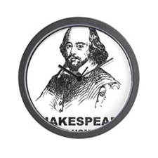 Shakespeare Is My Homeboy Wall Clock