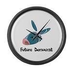 Future Democrat Large Wall Clock