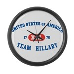 Team Hillary Large Wall Clock
