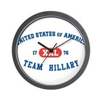 Team Hillary Wall Clock