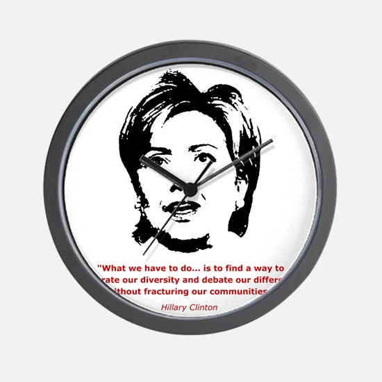Hillary Clinton Quotes Wall Clock