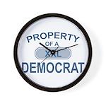 XXL Democrat Wall Clock