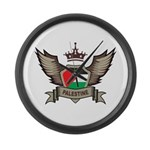 Palestine Emblem Large Wall Clock