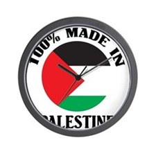 100% Made In Palestine Wall Clock