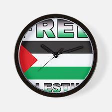 Free Palestine Wall Clock