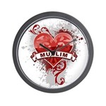 Heart Muslim Wall Clock