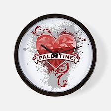 Heart Palestine Wall Clock