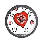 Proud Firefighter's Wife Wall Clock