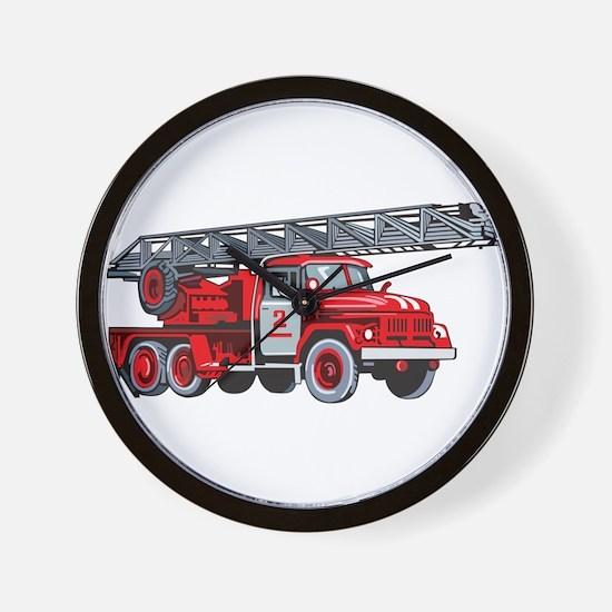 Fire Engine Wall Clock