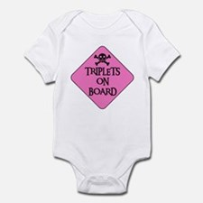 WARNING: TRIPLETS ON BOARD Infant Creeper