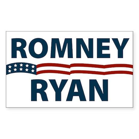 Romney-Ryan Stars and Stripes Sticker (Rectangle)