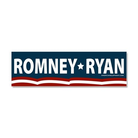 Romney-Ryan Stars and Stripes Car Magnet 10 x 3