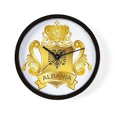 Gold Albania Wall Clock
