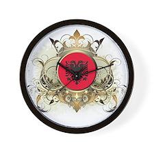 Stylish Albania Wall Clock