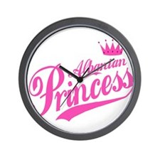 Albanian Princess Wall Clock