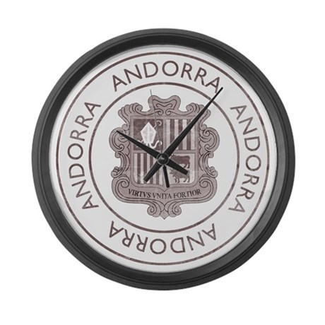 Vintage Andorra Large Wall Clock